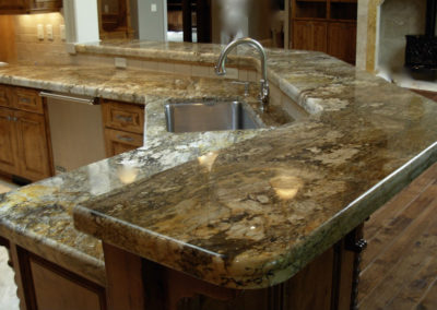 Giallo Persia Granite with 6cm Demi Bullnose