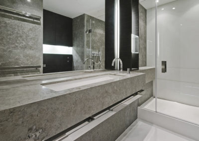 Modern Limestone Slab Bathroom