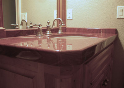 Red Quartzite Vanity